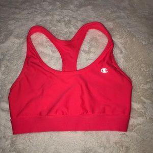 Hot pink Champion sports bra